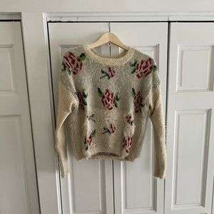 Kimchi Blue rose sweater